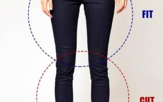 Как правильно выбрать размер джинсов женских