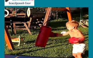 Как выбрать боксерскую грушу для ребенка