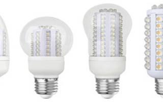 Светодиодные лампы для дома как выбрать по мощности таблица